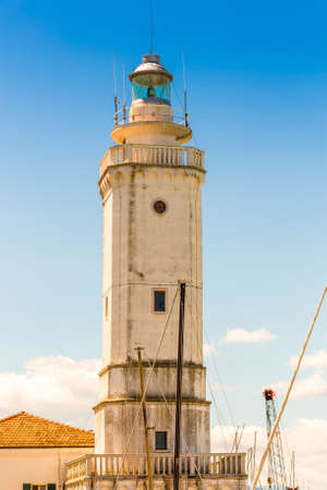 eighteenth: eighteenth-century lighthouse in Rimini, Italy Stock Photo