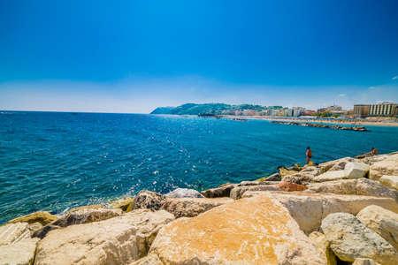 marche: bright panorama of the Adriatic coast in the Marche
