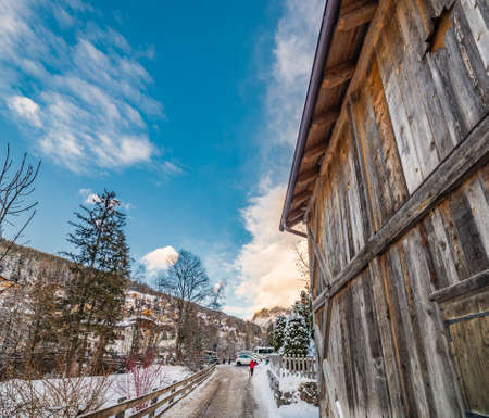storehouse: wooden shed on the Alps in Italy
