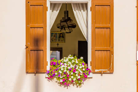 typical: window of typical Italian house