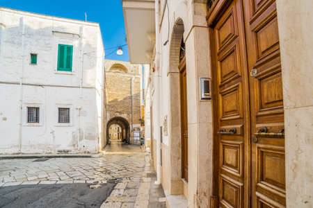 Typical street of old village in Puglia, Italy