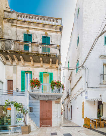 typical white houses of village in Apulia in Italy 写真素材