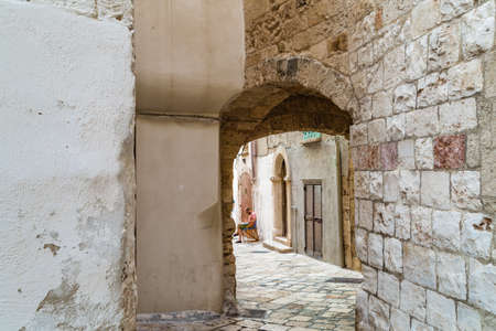 typical: typical alleyway of Polignano, in APulia, Italy