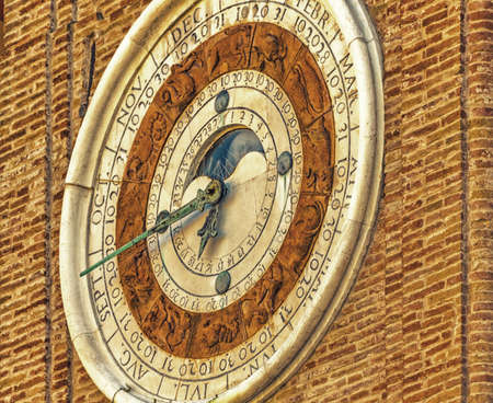 astronomical: astronomical clock in Rimini in Italy