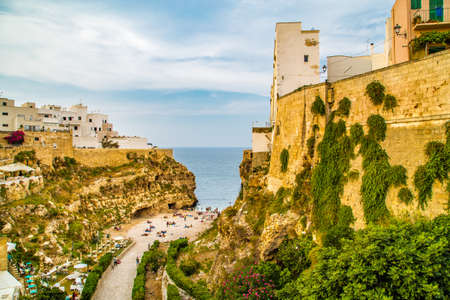 ancient village on a promontory in southern italy Stock Photo