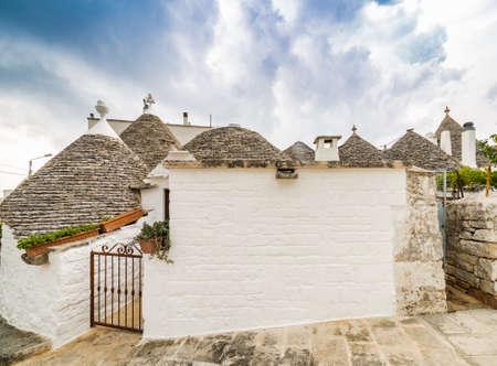 puglia: conical roofs of the trulli of Alberobello in Puglia, Italy Stock Photo