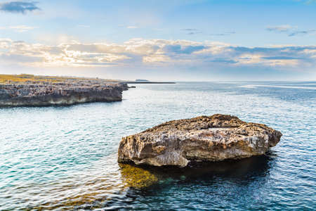 rocky coastal shore of Puglia