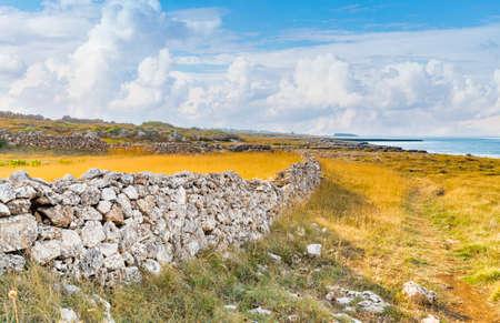 puglia: rocky coastal shore of Puglia