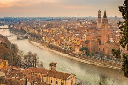 View of Verona in Italy Stock Photo