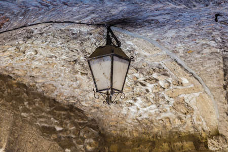 scraped: old and dirt lamp Stock Photo