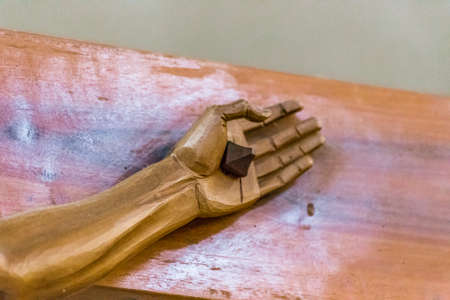 nailed: nailed hand of Crucifixion of Jesus Christ,