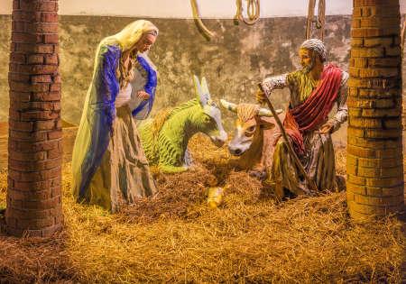 scène de la Nativité dans Crèche de Noël