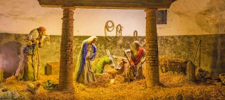 Nativity scene in Christmas Crib