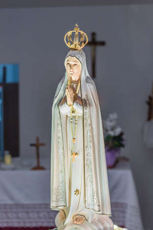 of our lady: Closeup of Our Lady of the Holy Rosary