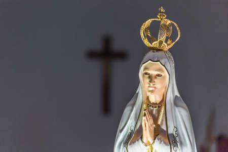 聖なるロザリオの聖母のクローズ アップ