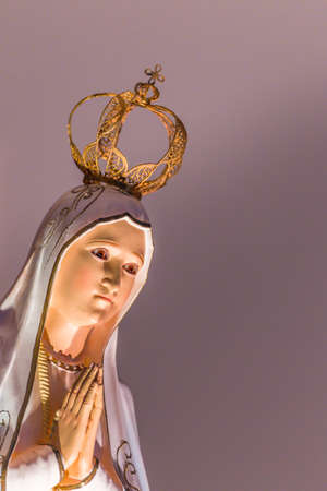 Closeup of Our Lady of the Holy Rosary