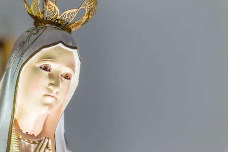 성스러운 묵주의 성모의 근접 촬영 스톡 콘텐츠