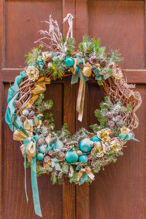 green and aquamarine Christmas decorations