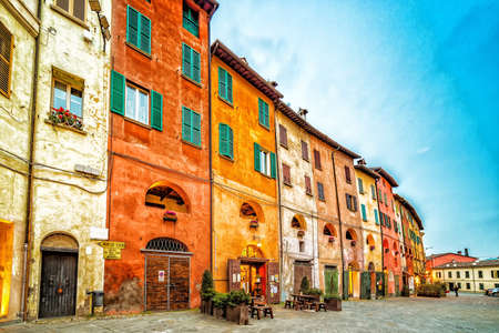 the streets of Brisighella, the most beautiful ancient village on the border between Emilia Romagna and Tuscany.