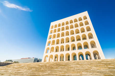 building monumental: monumental building in Rome in Italy Stock Photo