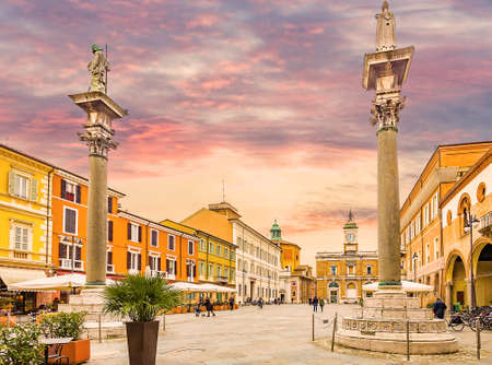 the main square in Ravenna in Italy