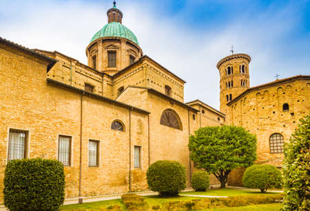 Metropolitan Cathedral of the Resurrection of Our Lord Jesus Christ an 5th century Baptistery in Ravenna in Italy Stock Photo