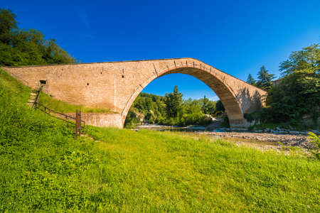 ancient Renaissance bridge with donkey back structure