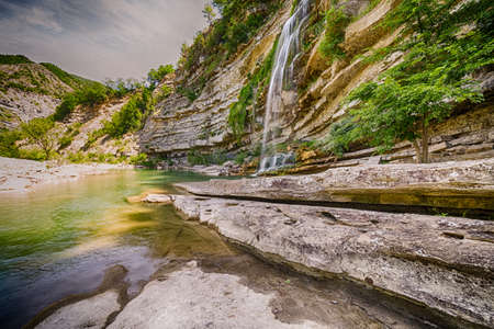 The stunning waterfalls of Fosso Canaglia, meaning Scoundrel Ditch, near Bologna in Italy