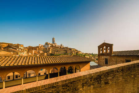 panorama of Siena, wonderful medieval town in Italy Stock Photo