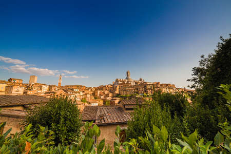 panorama of Siena, wonderful medieval town in Italy 版權商用圖片