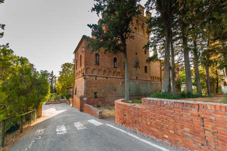 Abbey of Monte Oliveto Maggiore, a Benedectine monastery near Siena in Italy