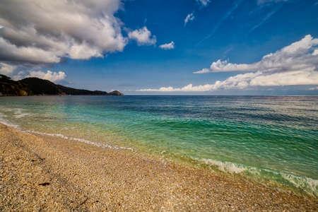 elba: the emerald sea waters on the coast of an Italian island Stock Photo