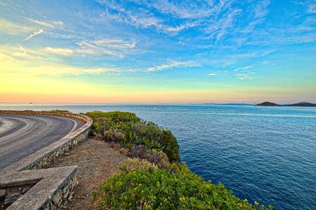 elba: panoramic view of Tyrrhenian Sea from Elba Island in Italy