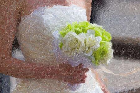 day: White bride Stock Photo