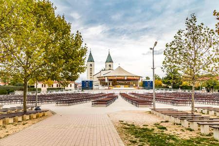 Saint James Church in Medjugorje is a popular destination for pilgrims