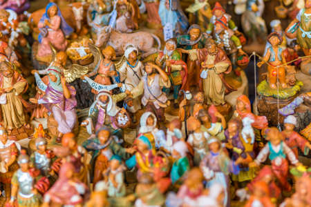 bunch of statues of characters of a Christmas Nativity Crib