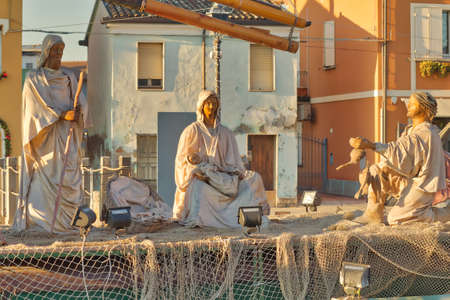 Conception To Epiphany The Christmas Nativity Scene On Historic Boats Of Leonardesque Canal In Cesenatico Italy Attracts Thousands Tourists
