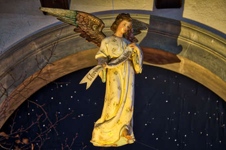 Statue of angel from a Christmas Nativity scene