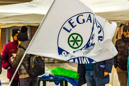 CESENATICO (FC) - FEBRUARY 10, 2018: The Italian parties are in full campaign for the next political elections