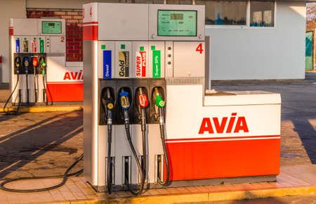 LUGO (RA) - FEBRUARY 11, 2018: 3000 petrol stations in 14 European countries represent AVIA brand Redakční