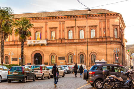 LUGO (RA) - FEBRUARY 15, 2018: CASSA DI RISPARMIO DI RAVENNA is one of the few last indipendent and private bank in Italy. Headquarters in Ravenna