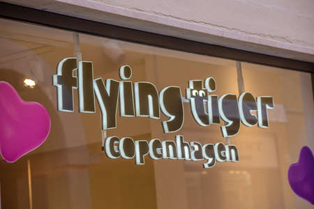 RAVENNA, ITALY - FEBRUARY 15, 2018: Flying Tiger Copenhagen opened the first shop in Ravenna Editorial
