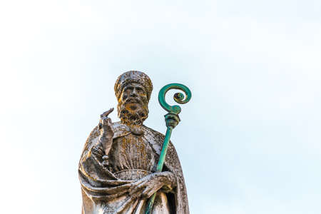 RAVENNA, ITALY - FEBRUARY 15, 2018: Saint Apollinaris was the first bishop of Ravenna in the 1st century A.D. Editorial
