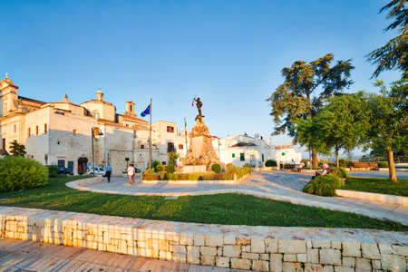 CISTERNINO (BR) - AUGUST 25, 2016: Italian Touring Club confirmed to award Cisternino with Orange Flag, the environmental tourism quality mark because of excellent offer and quality hospitality