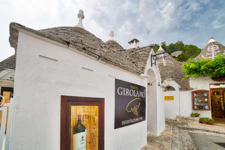 ALBEROBELLO (BA), ITALY - SEPTEMBER 1, 2016: Alberobello, with more than one hundred thousands of arrivals in 2015, drives tourism in Puglia as ninth popular destination 報道画像
