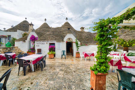 ALBEROBELLO (BA), ITALY - SEPTEMBER 1, 2016: Alberobello, with more than one hundred thousands of arrivals in 2015, drives tourism in Puglia as ninth popular destination Editorial