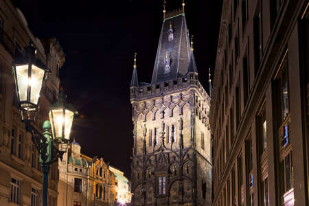 PRAGUE, CZECH REPUBLIC - AUGUST 27, 2014: the Power Tower separates the Old Town from the New Town