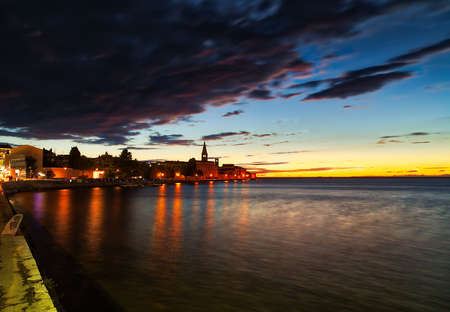 sunset on seascape in Croatia