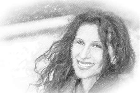 illustration of smiling mature woman Stock Photo