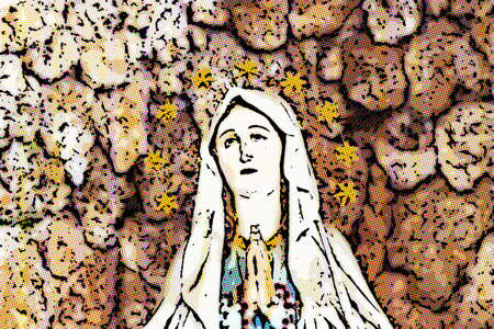 illusion of the Blessed Virgin Mary Stock Photo - 100926456